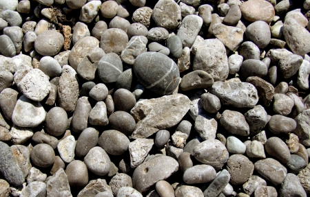 Sea stones background. Stock Photo