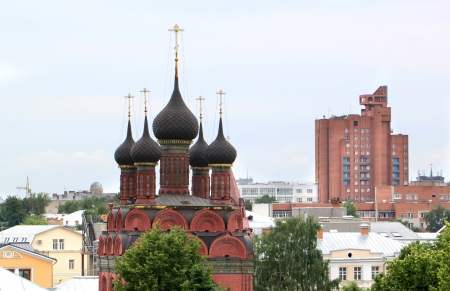 Orthodox temple in the city of Yaroslavl photo