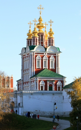 Gate Church of the Transfiguration of Novodevichy Convent in Moscow