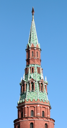 Moscow Kremlin tower with red star photo