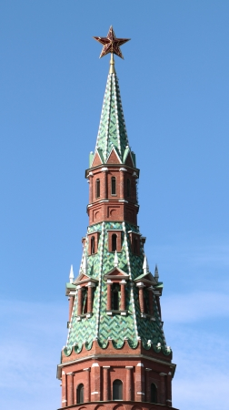 Moscow Kremlin tower with red star