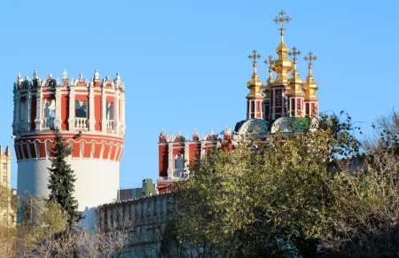 Church and Tower of the Novodevichy Convent Stock Photo