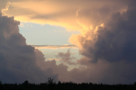 Dark clouds in the sky Stock Photo