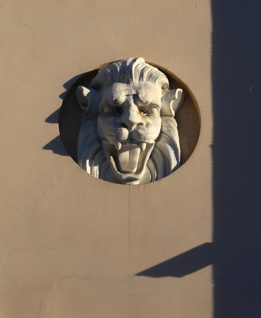 bas-relief of a lion photo