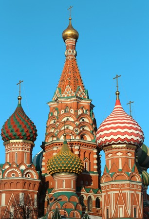 St. Basil s Cathedral on Red Square Stock Photo