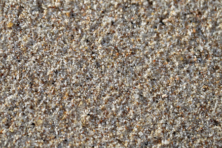Big yellow sand on the beach is photographed close-up Stock Photo