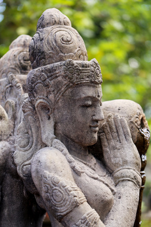 beings: Sculpture of divine beings in Thailand with fotografirovanie in Buddhist temples