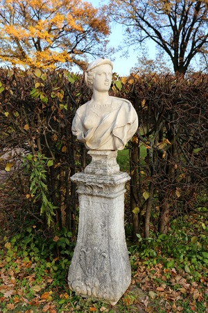 statue in the park of the estate of Count Sheremetyevo kuskovo Stock Photo