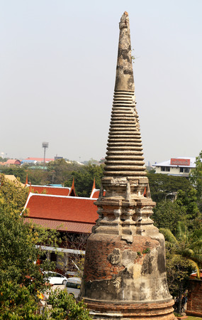 Buddhist temple in Thailand the city of Ayutthaya