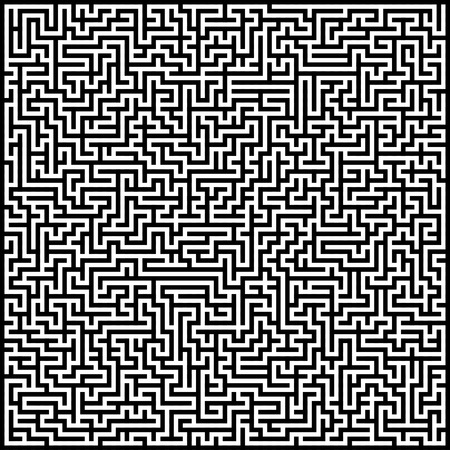 Black and white abstract artistic background maze Illustration