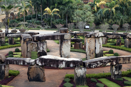 Model of Stonehenge in Thailand in Pattaya in the Park Nong Nooch Editorial
