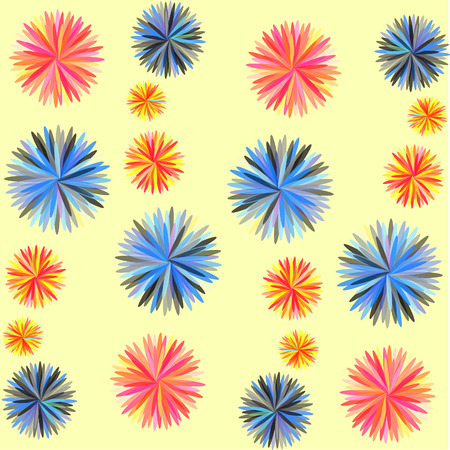 illustrated: Abstract flowers Colorful illustrated a abstraction the colorful background