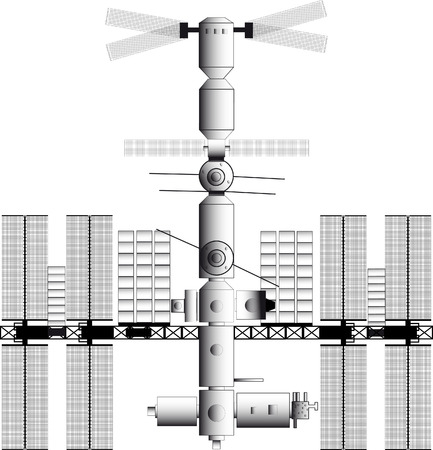 starwars: Black and white icon vector illustrations of space stations