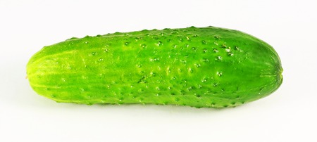 tasty: tasty vegetable cucumber photographed on a white background closeup