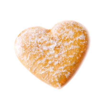silhouette fleur: biscuits délicieux dans la forme d'un c?ur, photographiés en gros plan