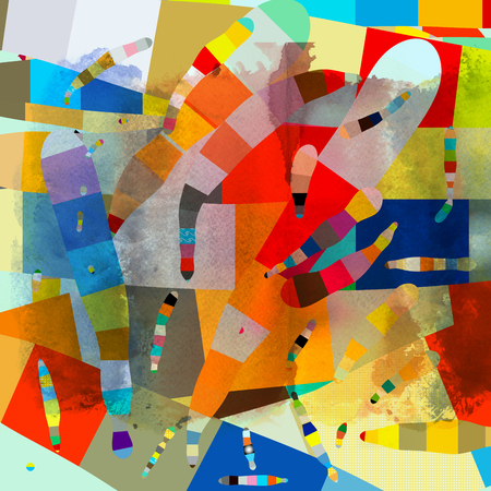 beautiful abstract pattern of different colorful shapes