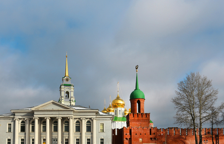 Beautiful Tula Kremlin in Russia to photograph closeup
