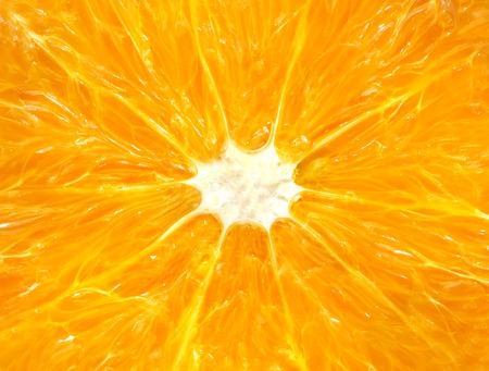 Delicious beautiful orange photographed in close up