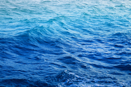 Photo background beautiful blue clean sea with waves Stock Photo
