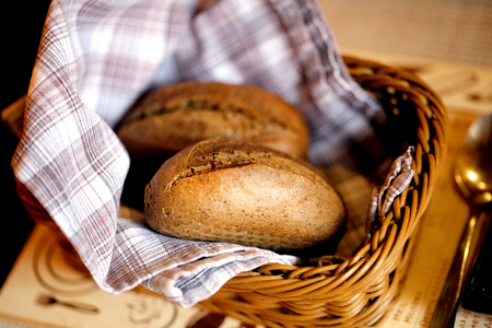 Macro photo of a delicious rye bread