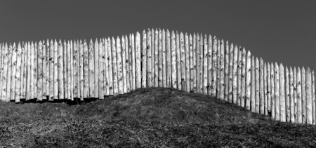 stakes: Photo background old wooden fences