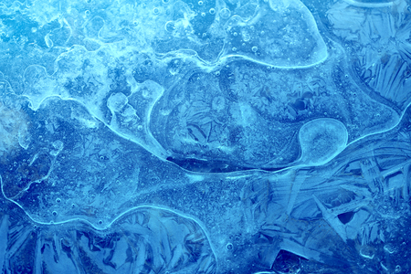 Photo background blue beautiful current ice season
