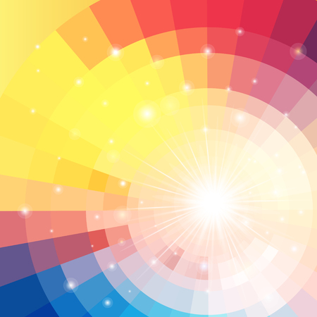 brightness: Abstract brightly vector sunrise circle technology pattern