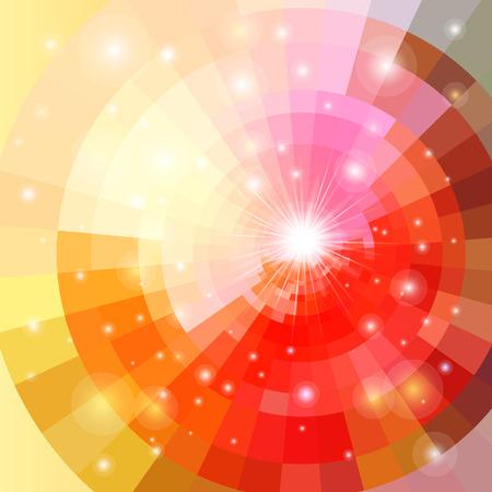 Resumen brillantemente vector sunrise círculo tecnología patrón