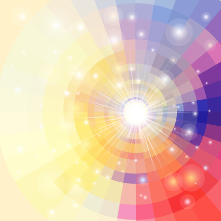 Abstract brightly vector sunrise circle technology pattern