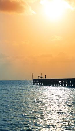 Beautiful sea sunset on Koh Samui in Thailand Stock Photo
