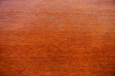 Beautiful texture of red brick photographed close-up