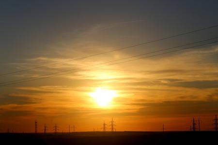 Beautiful sunset in the sky to photograph closeup