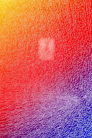 Beautiful texture of transparent broken glass photographed close-up