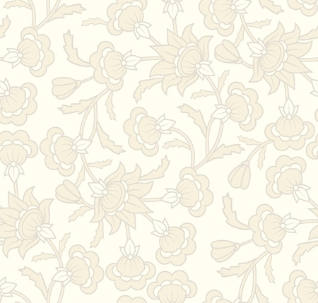 Seamless wallpaper pattern in  vintage style with floral elements. Stock Vector - 14602472