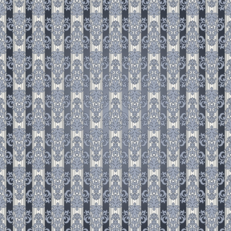 Seamless striped wallpaper pattern in vintage style Vector