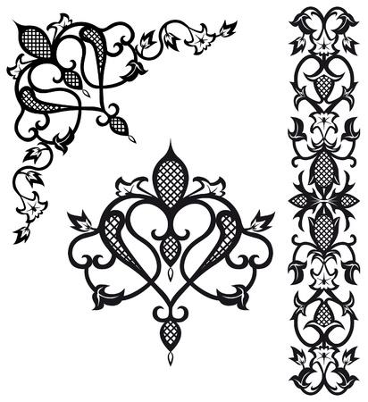 barok ornament: Patroon elementen in vintage stijl