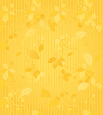 Seamless wallpaper pattern with gold leaves Stock Vector - 14989054