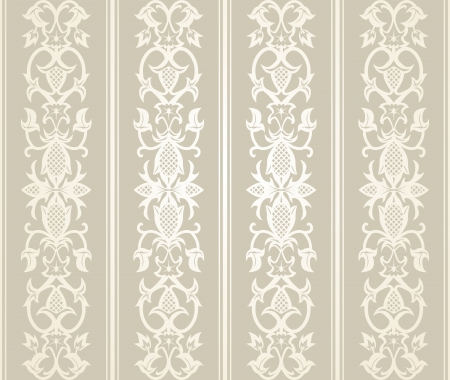 Seamless wallpaper pattern  in  vintage style Vector