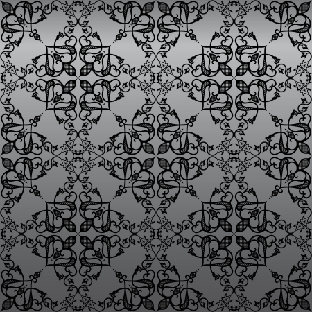 Seamless  vintage gothic damask wallpaper background Stock Vector - 15016311