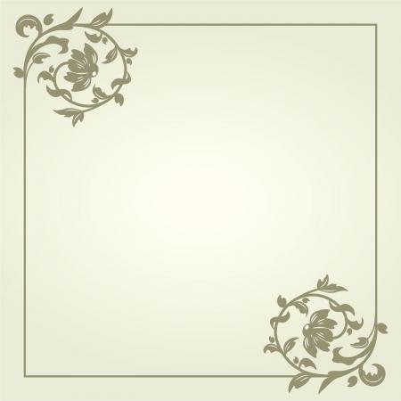 Fondo de la vendimia adornado plantilla del marco retro