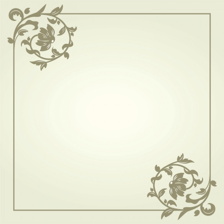 Vintage background ornate retro frame template