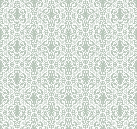 Damask seamless pattern  for background design Vector