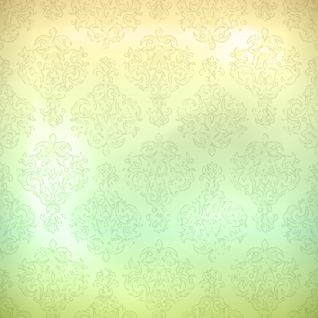 Grunge retro seamless pattern for wallpaper background in shades of subtle pastel colors.  All major elements are placed on separate layers and named Vector