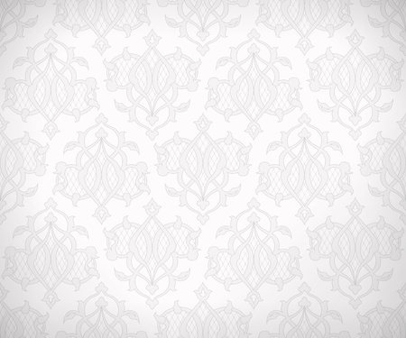 Vintage abstract  seamless pattern in subtle shades of white and gray colors for wallpaper background  Illustration