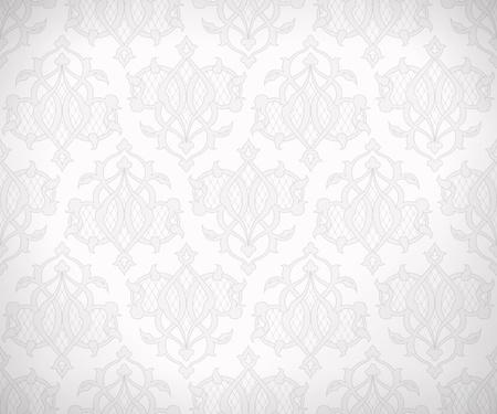 Vintage patr�n abstracto sin fisuras en tonos sutiles de colores blanco y gris para papel tapiz de fondo