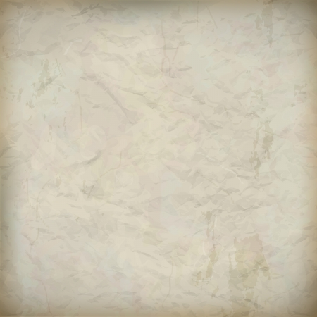 Vintage abstract crumpled old paper textured background in shades of beige and gray for your wallpaper design Stock Vector - 17519768