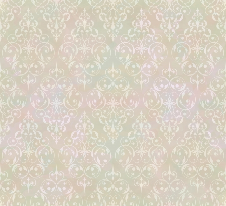 french style: Vintage abstract  seamless pattern with subtle grunge texture for background design Illustration