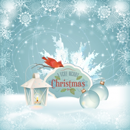 Vector Christmas snow background. Vector
