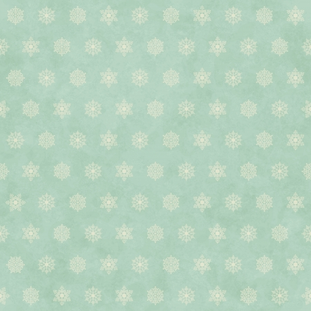 Christmas winter retro seamless pattern background with snowflakes on subtle grunge paper texture.   Vector