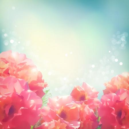 Shining flowers roses (peonies)